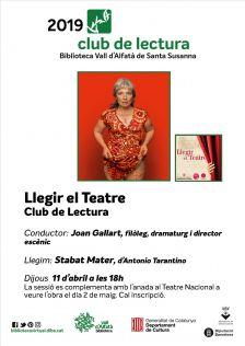 Llegir el Teatre - abril 2019