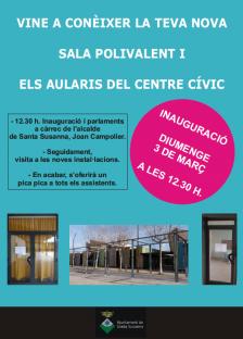 Inauguració sala polivalent i aularis del Centre Cívic