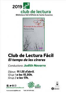 Club de Lectura Fàcil - abril 2019