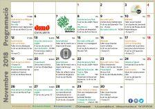 Programació d'activitats novembre