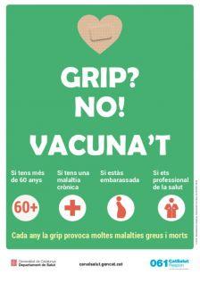Cartell vacunació contra la grip 2018/19